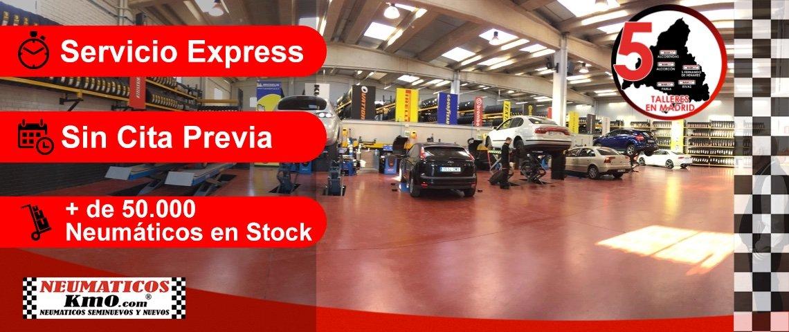 Servicio express, sin cita previa y cientos de neumáticos en stock, 5 centros en madrid