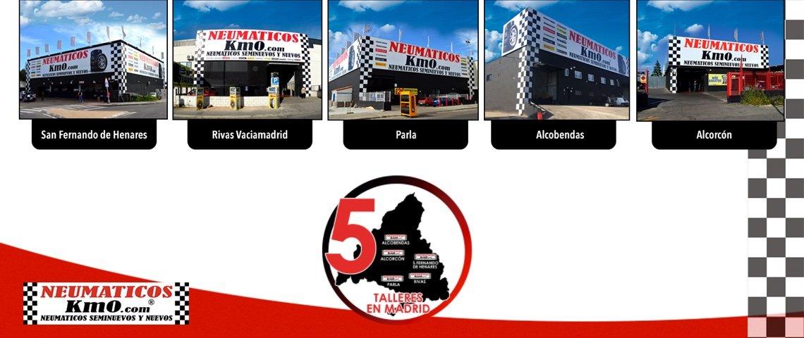 Exterior 5 centros de neumáticos km0 en Madrid. Imagen publicitaria