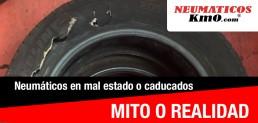 neumáticos caducados mito fotografía neumático en mal estado