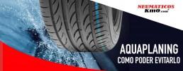 Aquaplaning neumáticos seguros