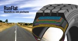 Runflat Neumáticos Km0 imagen ilustrativa componentes interior del neumático