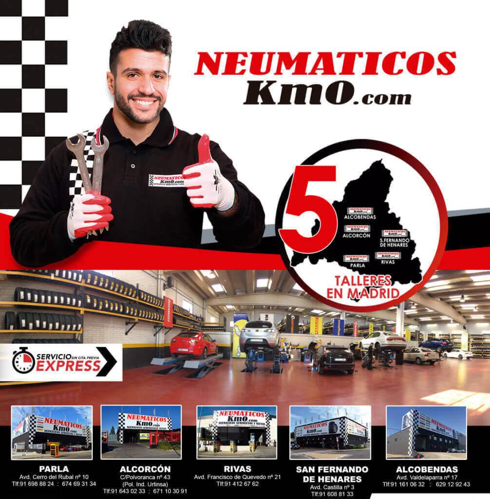 Neumáticos Km0 5 talleres en Madrid