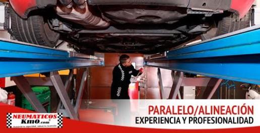 Servicio de alineación y paralelo. Experiencia y profesionalidad. Fotografía de un profesional el labores de alineación y paralelo