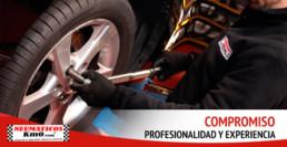 Compromiso profesionalidad y experiencia. Cartel publicidad