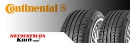Cabecera Neumáticos Continental. Fotografía 2 neumáticos