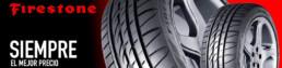 Banner neumáticos marca Firestone. Siempre el mejor precio