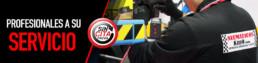 Banner Sin cita previa y Profesionales a su servicio. Imagen de un mecánico de espaldas. camisa logo empresa