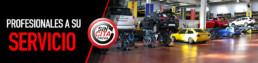 Banner Profesionales a su servicio y sin cita previa. Fotografía interior de taller mecánico