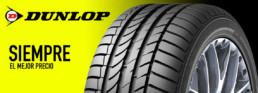 Cabecera neumáticos marca Dunlop. Siempre el mejor precio