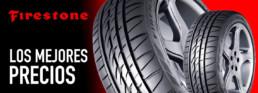 Cabecera neumáticos marca Firestone. Los mejores precios. Fotografía dos neumáticos