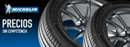 Imagen publicitaria neumáticos Michelin baratos. Precios sin competencia