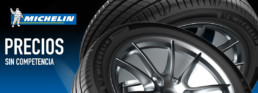 Michelin. Precios sin competencia. Imagen de dos neumáticos Michelin superpuestos