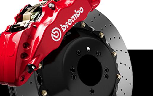 Imagen publicitaria del sistema de disco de freno marca brembo