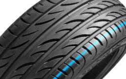 Fotografía primer plano superficie de un neumático