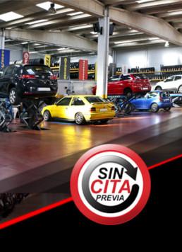 Vista interior del Taller de venta y cambio de Neumáticos