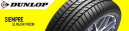 Banner neumáticos Dunlop. Siempre el mejor precio. Fondo amarillo