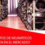 ¿Qué tipos de neumáticos existen en el mercado?