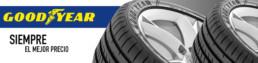 Imagen publicitaria. Neumáticos Goodyear siempre el mejor precio