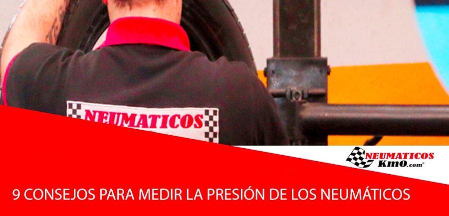 presión adecuada de los neumáticos
