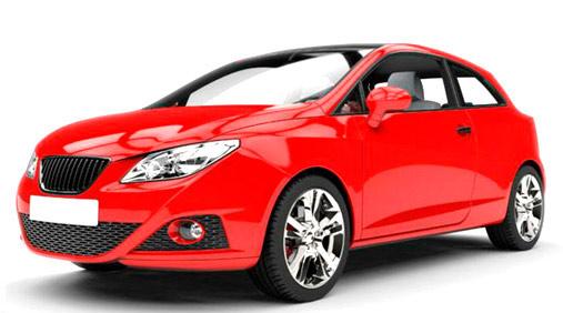 Seat Ibiza rojo