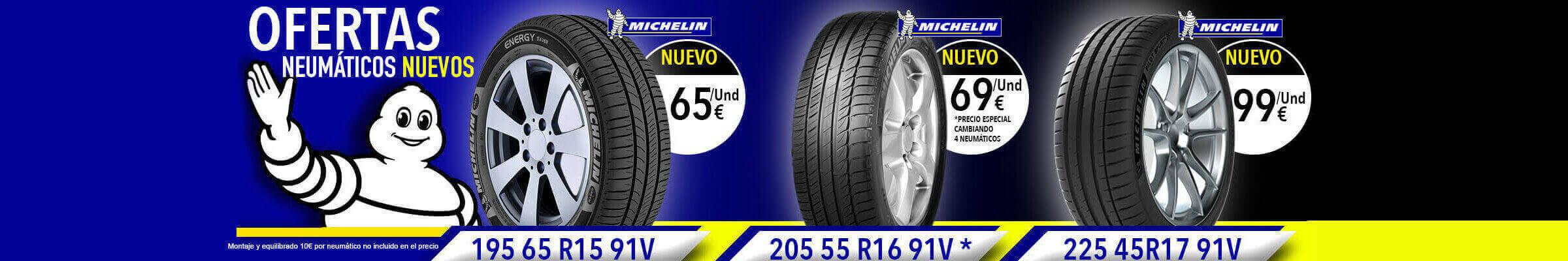 Oferta de neumáticos nuevos Michelin