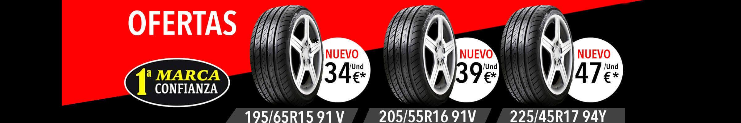 Banner de neumáticos nuevos