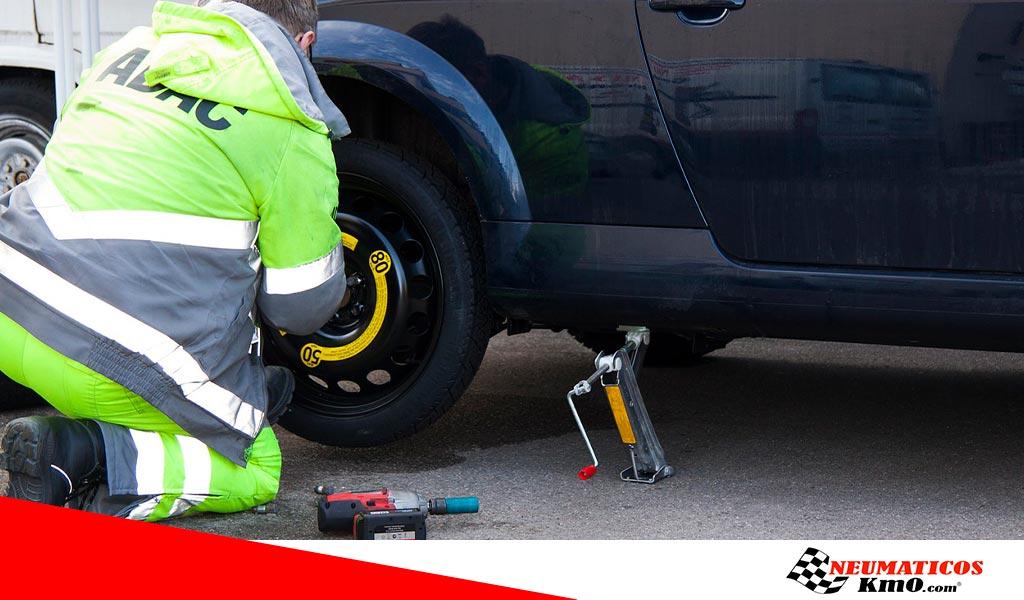 medición de la presión del neumático